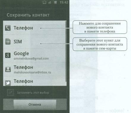 Добавление, изменение и удаление контактов на Android