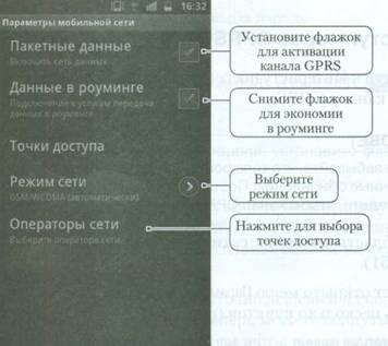 Доступ через GPRS на Android
