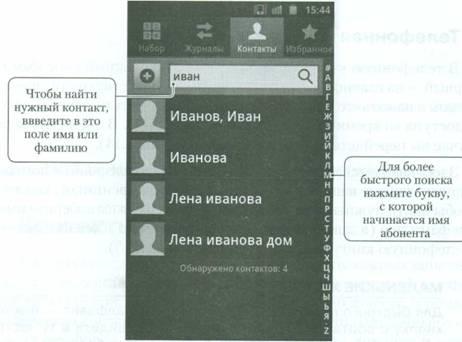 Телефонная книга на Android